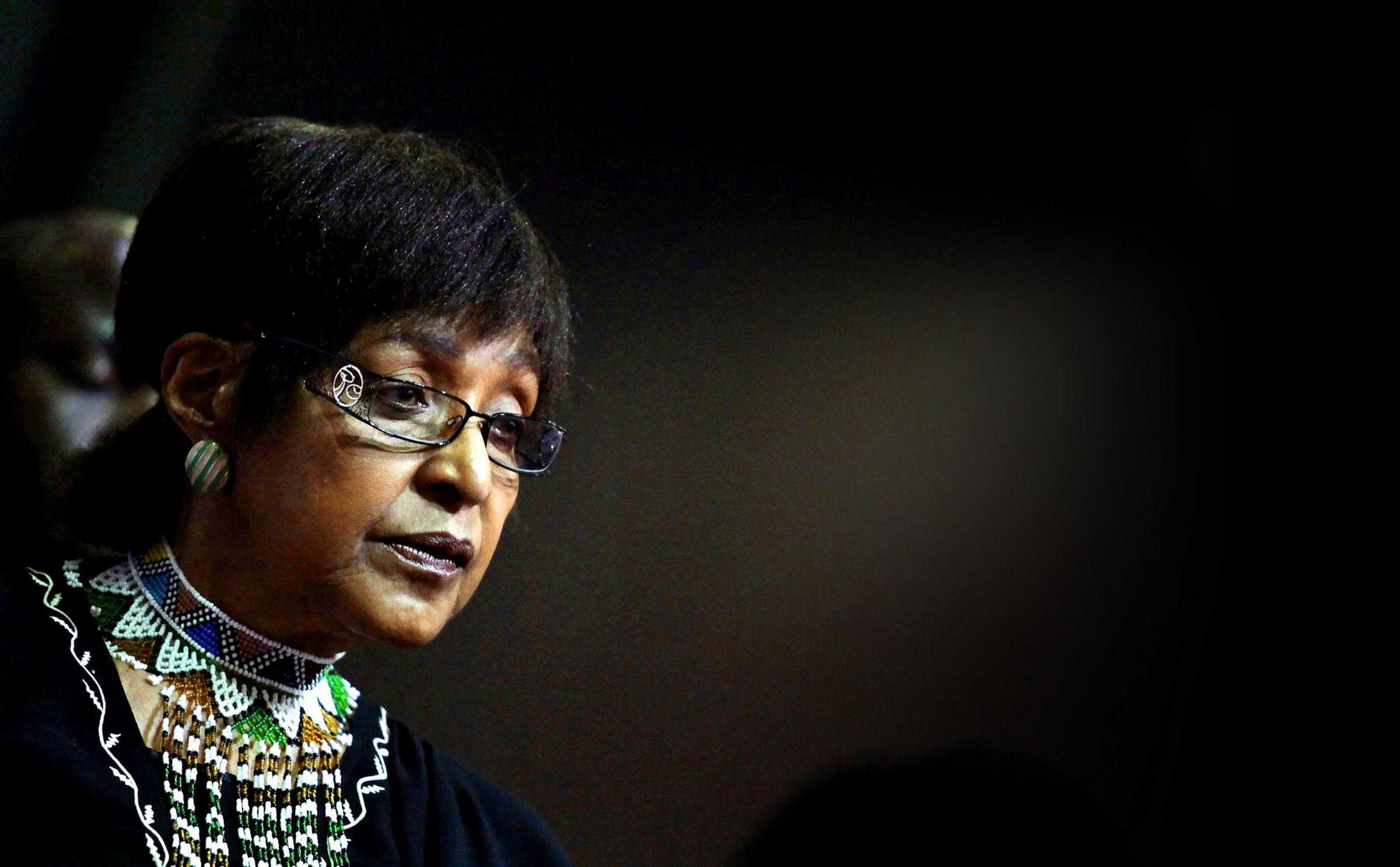Winnie Madikizela Mandela became a symbol of the worldwide campaign against apartheid. Photograph: Getty