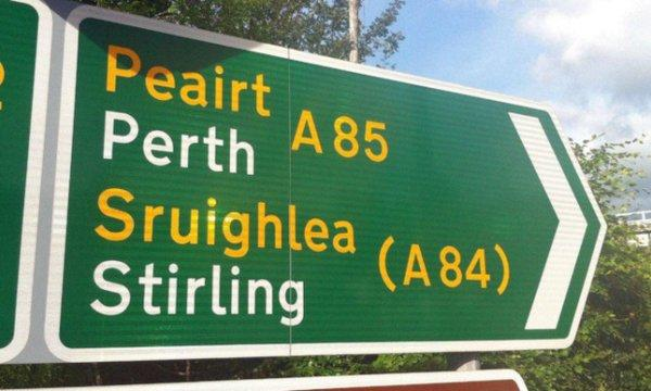 The National: Gaelic is rarely used on mainland Scotland, outside of roadsigns