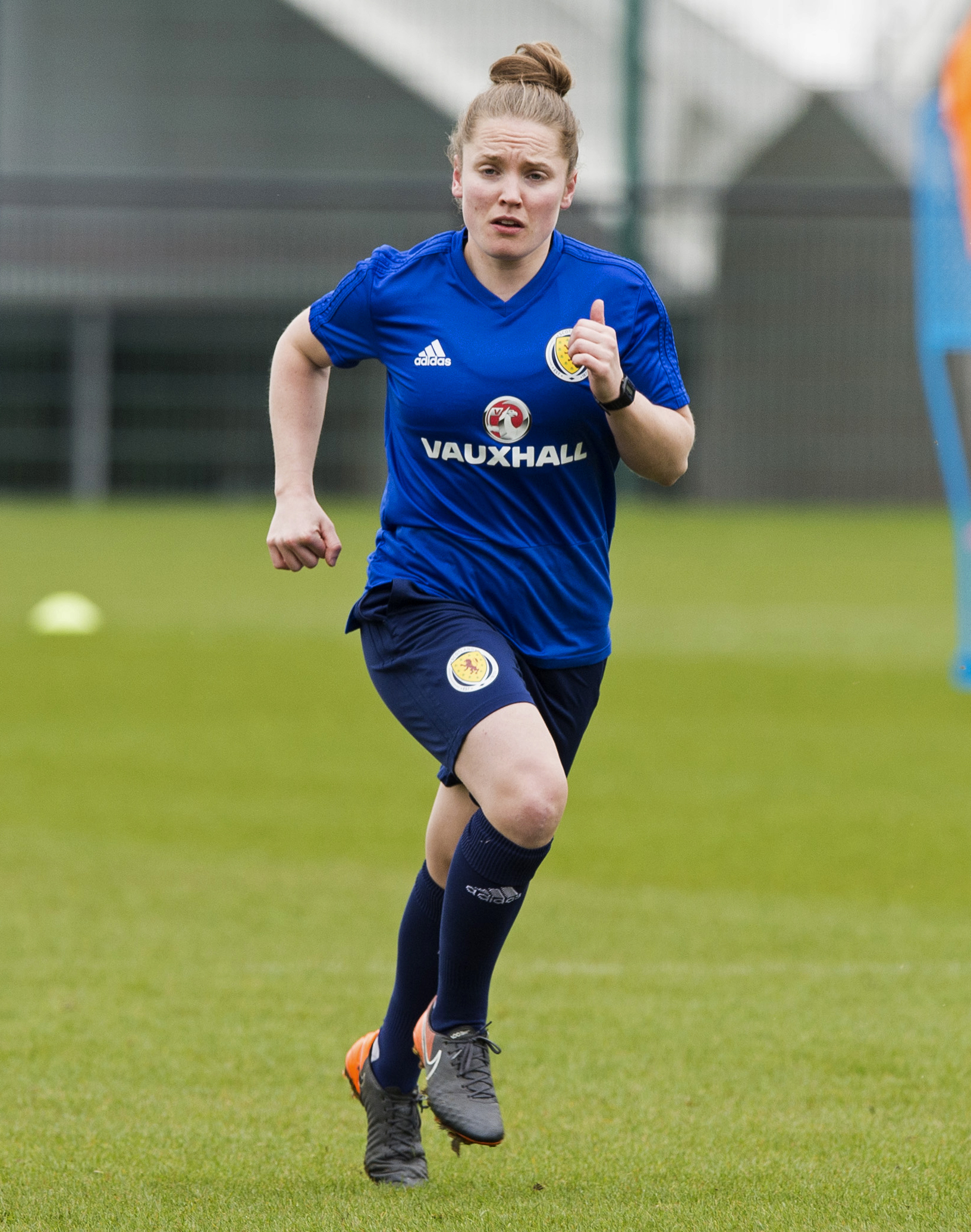 Scotland's Kim Little during Scotland training yesterday as they prepare to play Poland this evening. Picture: SNS