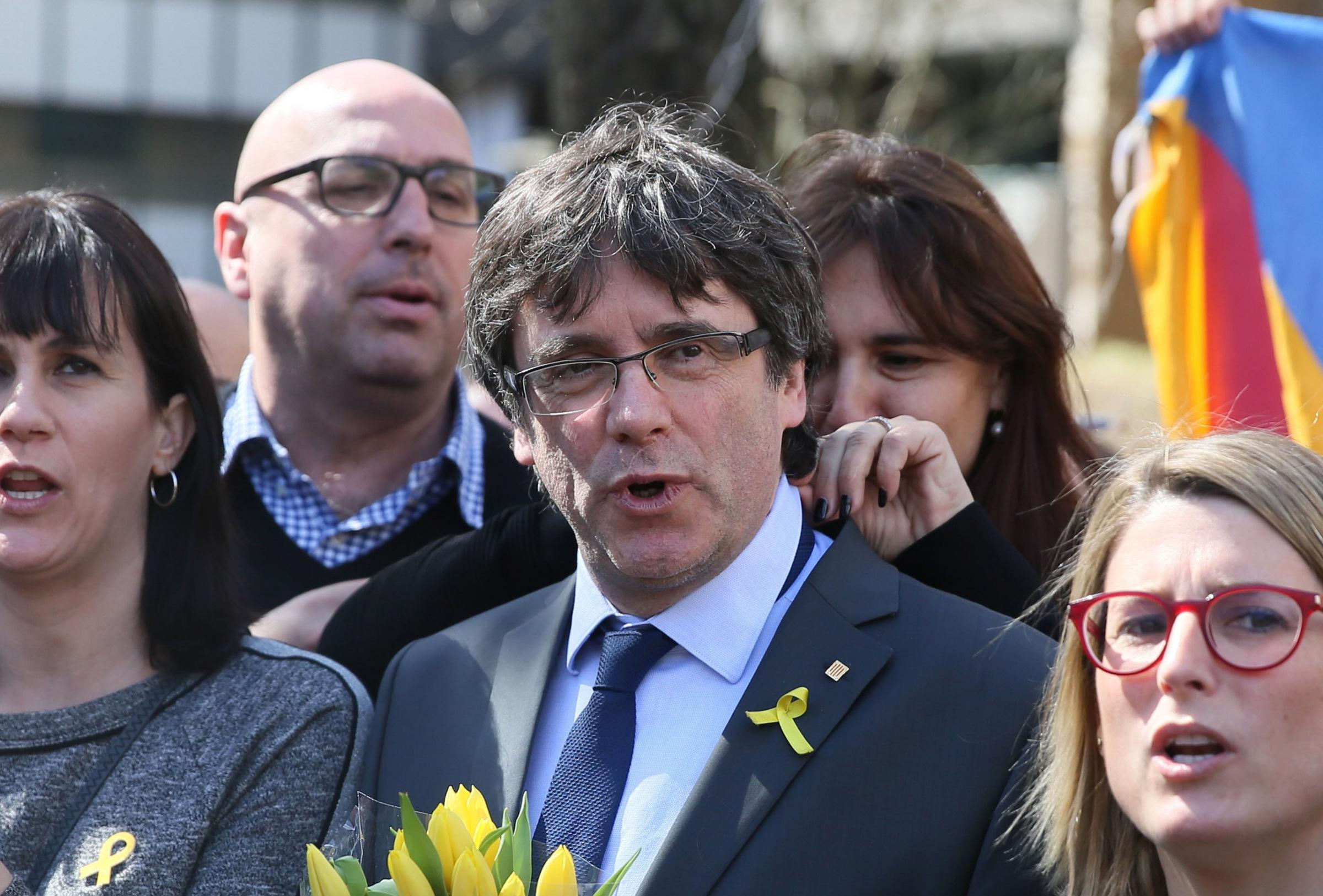 Puigdemont was released on Friday pending a ruling on his extradition and has is now living in Berlin