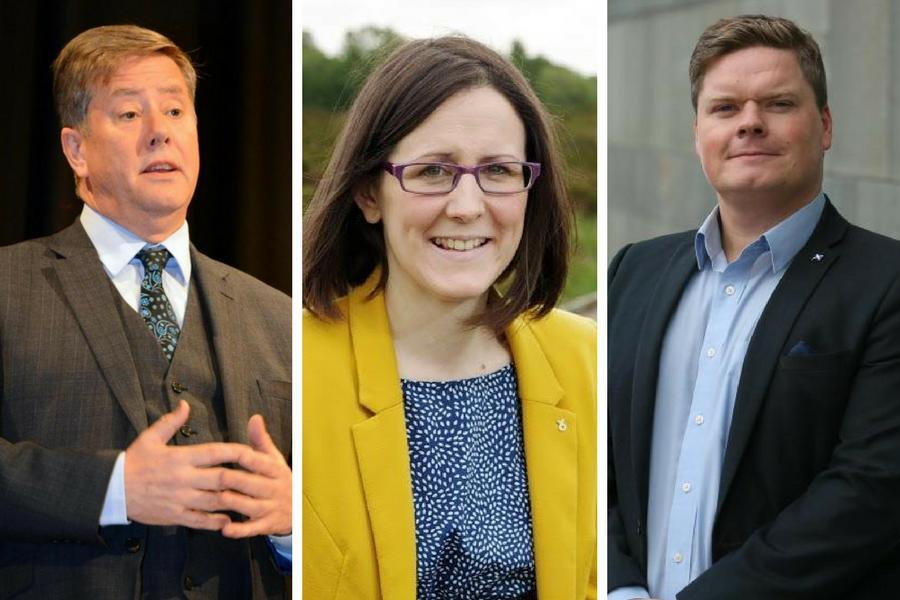 Candidates for SNP depute: Keith Brown, Julie Hepburn, Chris McEleny