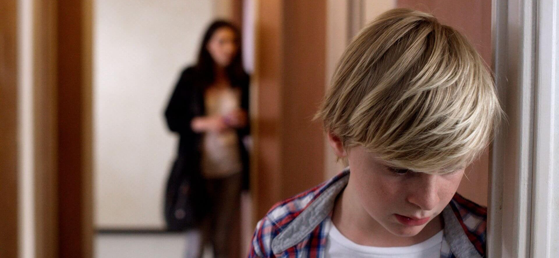 Thomas Gioria stars as 12-year-old Julien who is at the centre of a custody battle