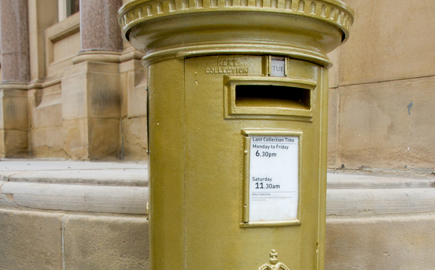 Gold post boxes appeared in winners' hometowns after London 2012