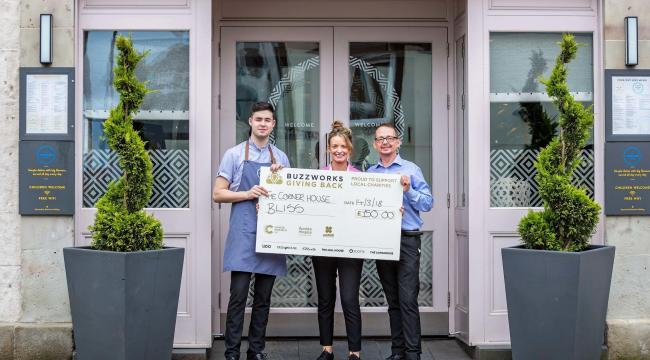 Third place was awarded to The Corner House in Kilwinning who raised money for Bliss