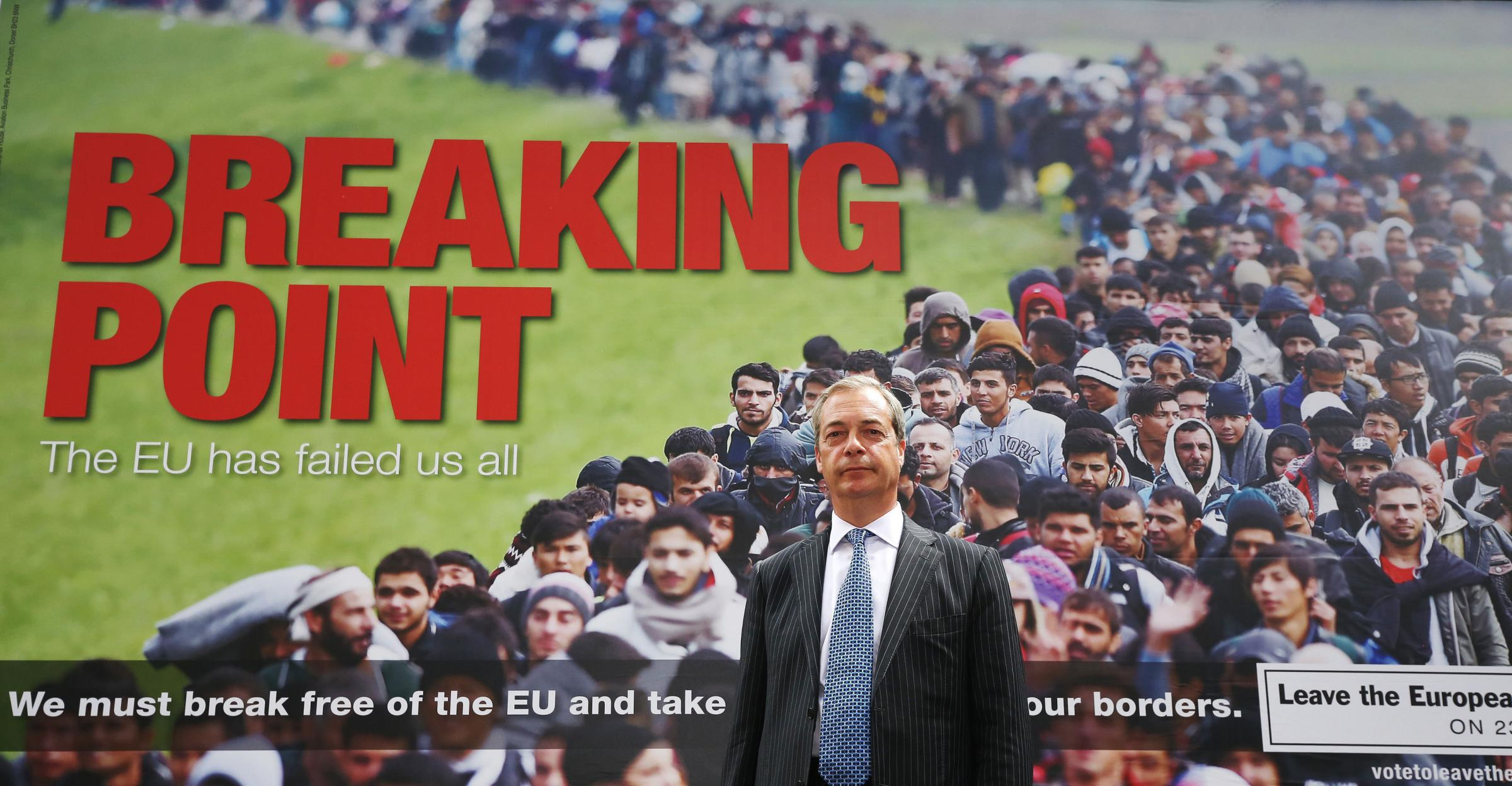 Nigel Farage fronted Leave.EU during his time as the leader of Ukip