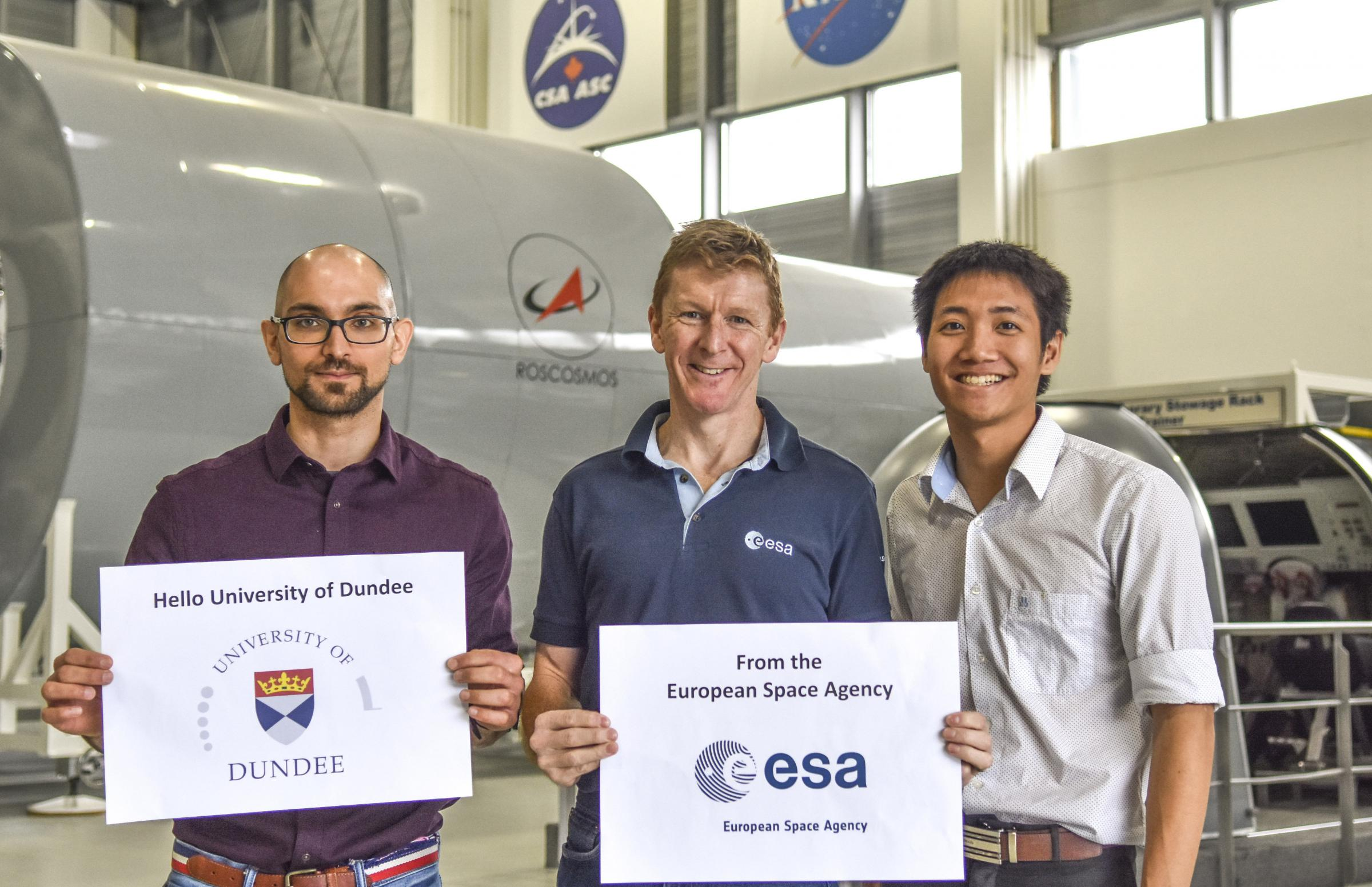 Amir Fathi and Neil Tan had one-to-one meetings with experts such as British astronaut Tim Peake during their internships with the European Space Agency