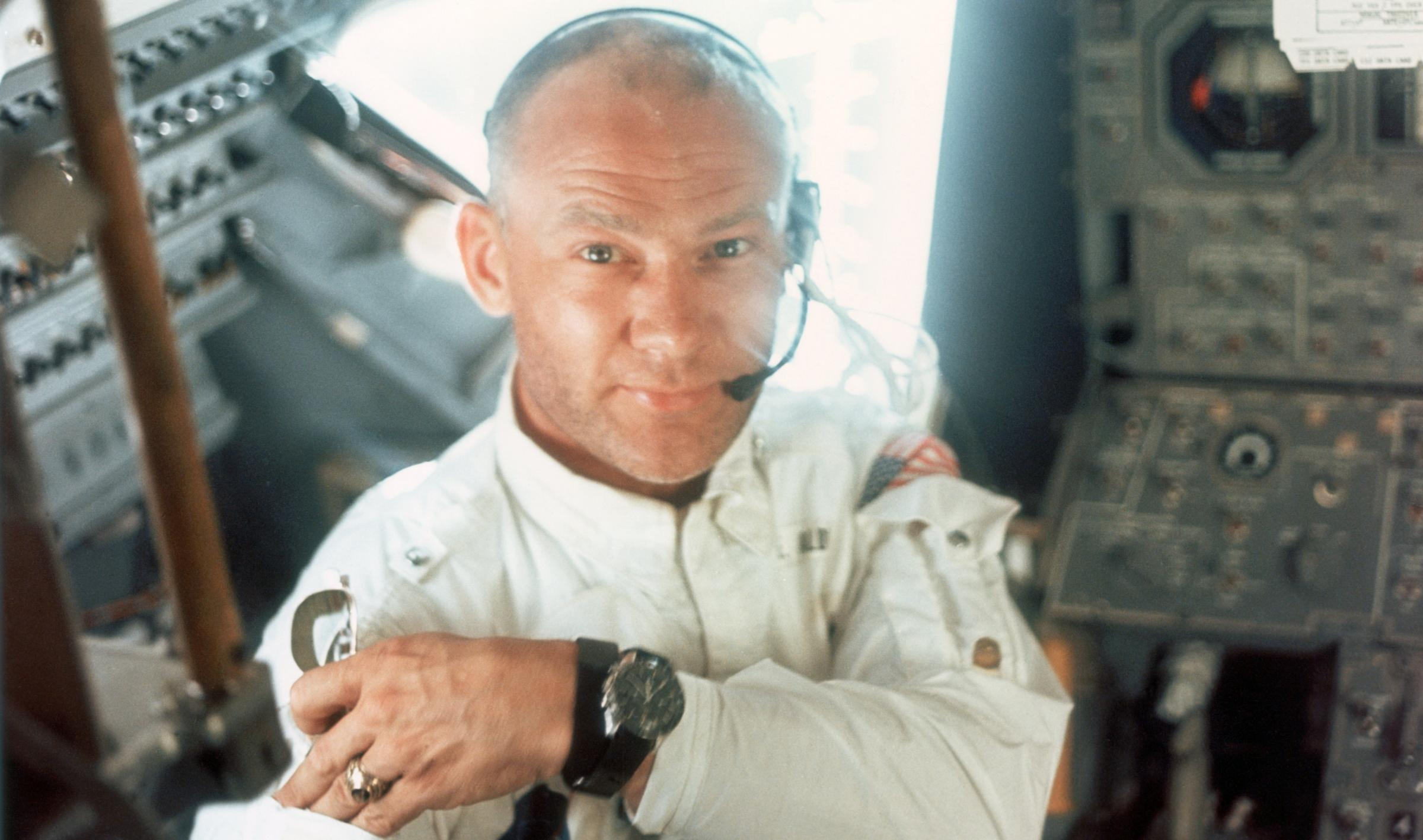 Buzz Aldrin did see something strange during his 1969 voyage. Photograph: Getty
