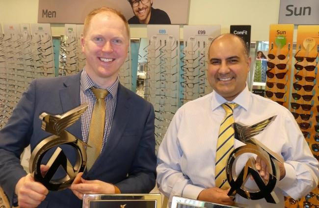 Specsavers Morningside director Michael O'Kane, left, and operations manager Joe Alubaid
