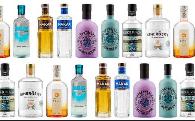 Six artisan producers will supply eight different gins to Lidl