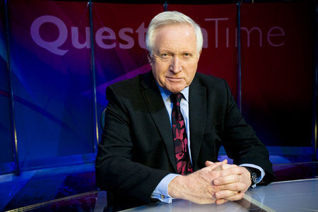 Question Time host David Dimbleby will be in Edinburgh tonight