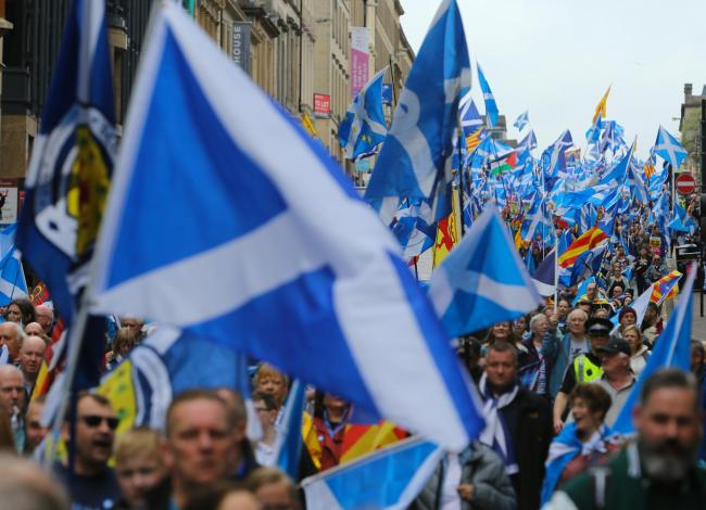 100,000 marched down the Royal Mile in Edinburgh for independence