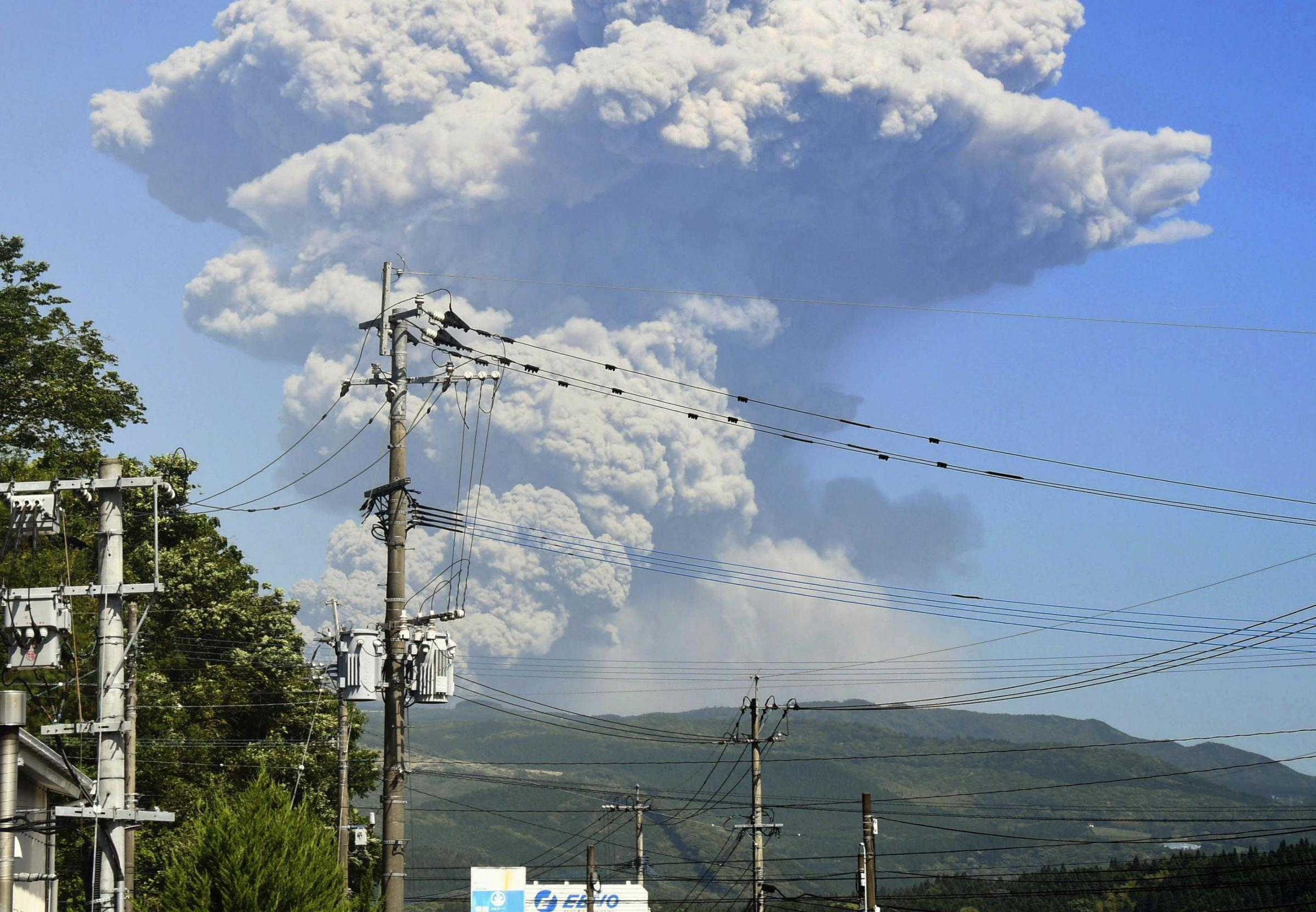 Bond movie volcano erupts in Japan   The National