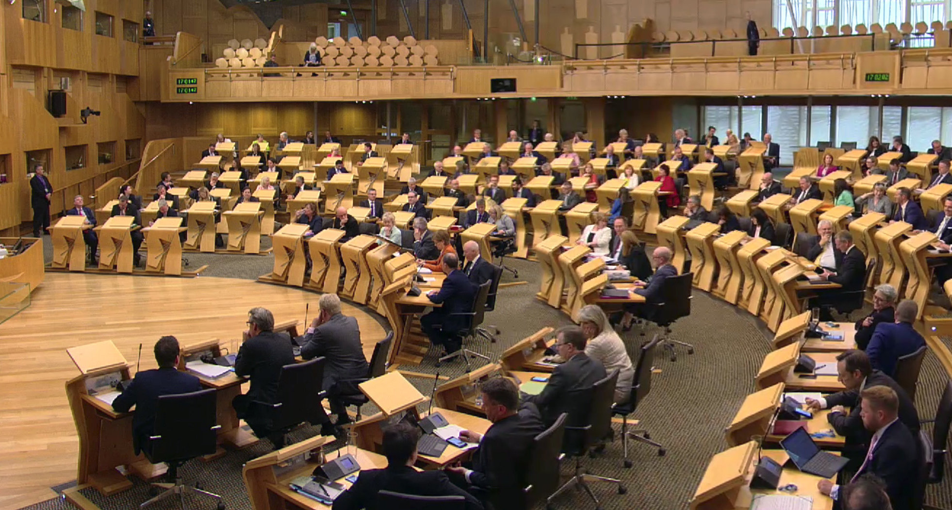 MSPs at Holyrood ahead of yestrday's vote