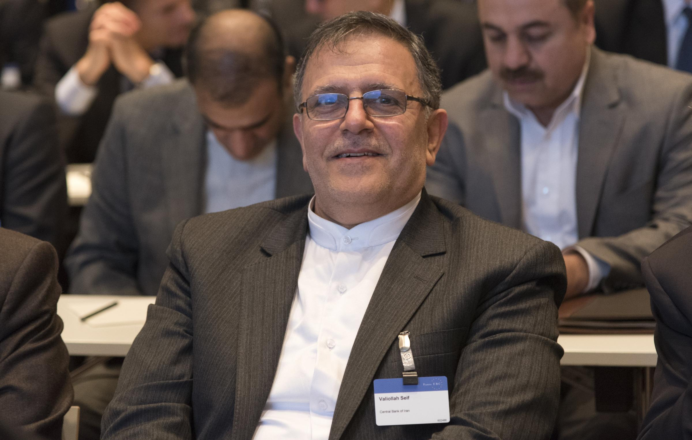 Valiollah Seif is the governor of the Iranian central bank