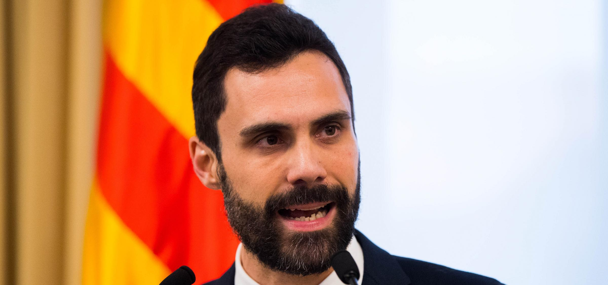 Catalan Parliament speaker Roger Torrent has welcomed the decision. Photograph: Getty