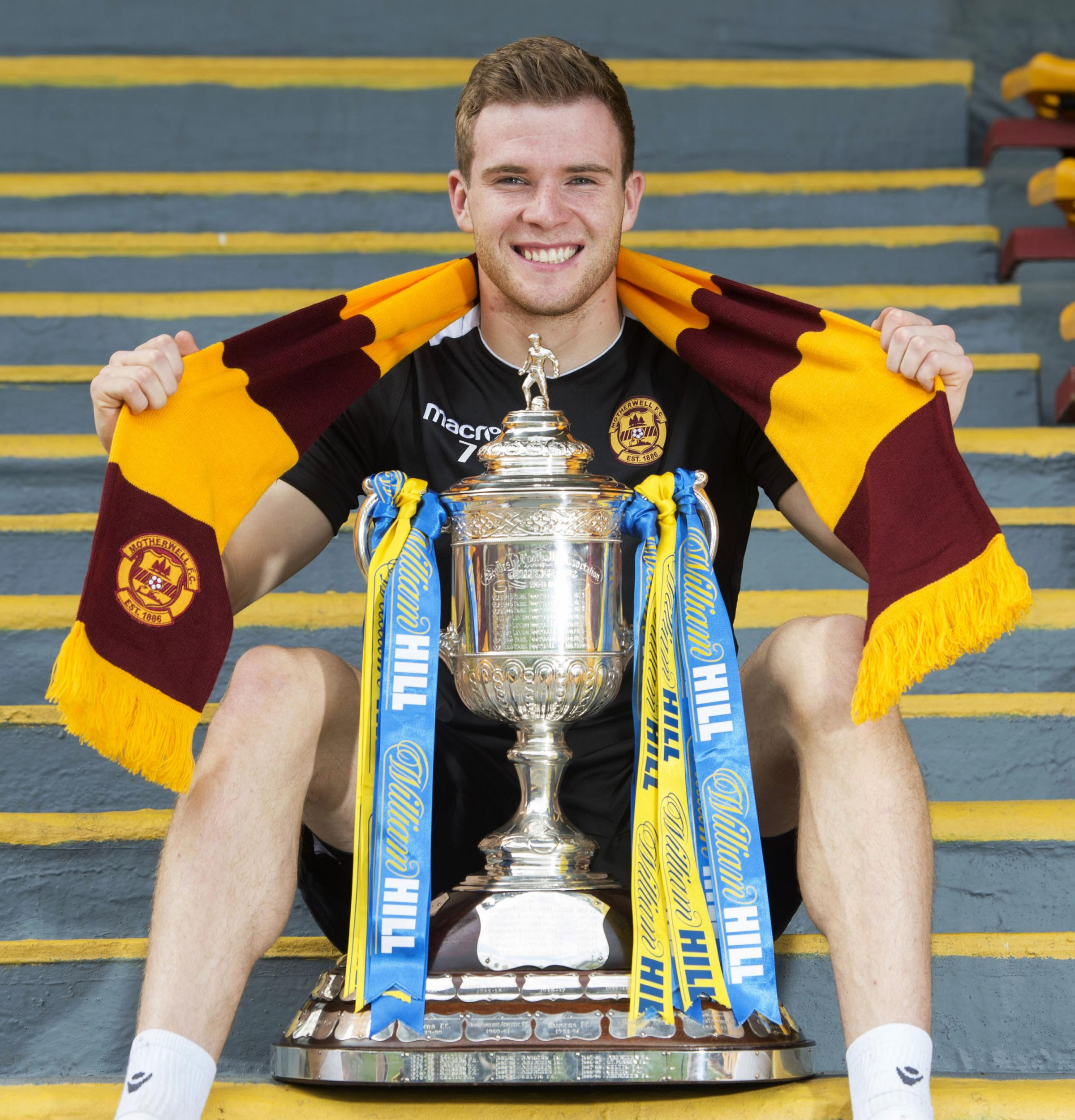 15/05/18. FIR PARK - MOTHERWELL. Motherwell's Chris Cadden previews the William Hill Scottish Cup Final against Celtic..