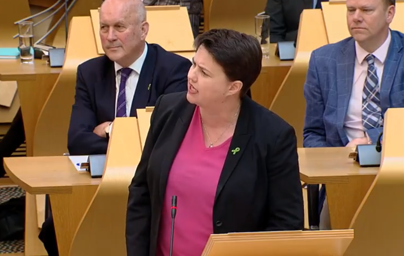 Ruth Davidson asked the First Minister about subject choices at schools