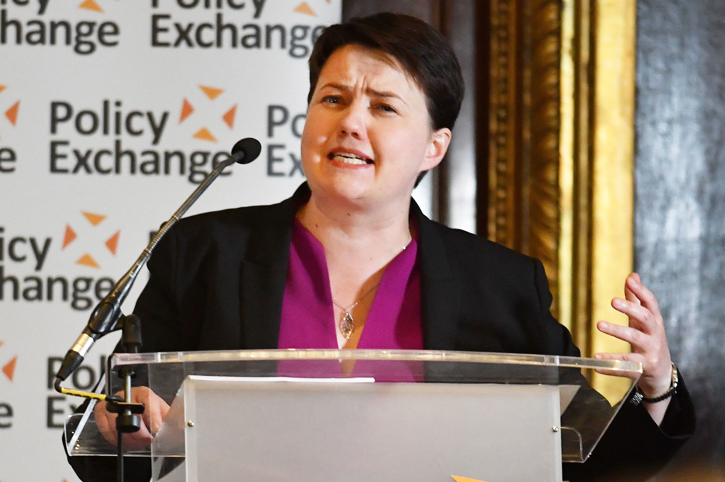 Ruth Davidson was among those taking part in the Policy Exchange event