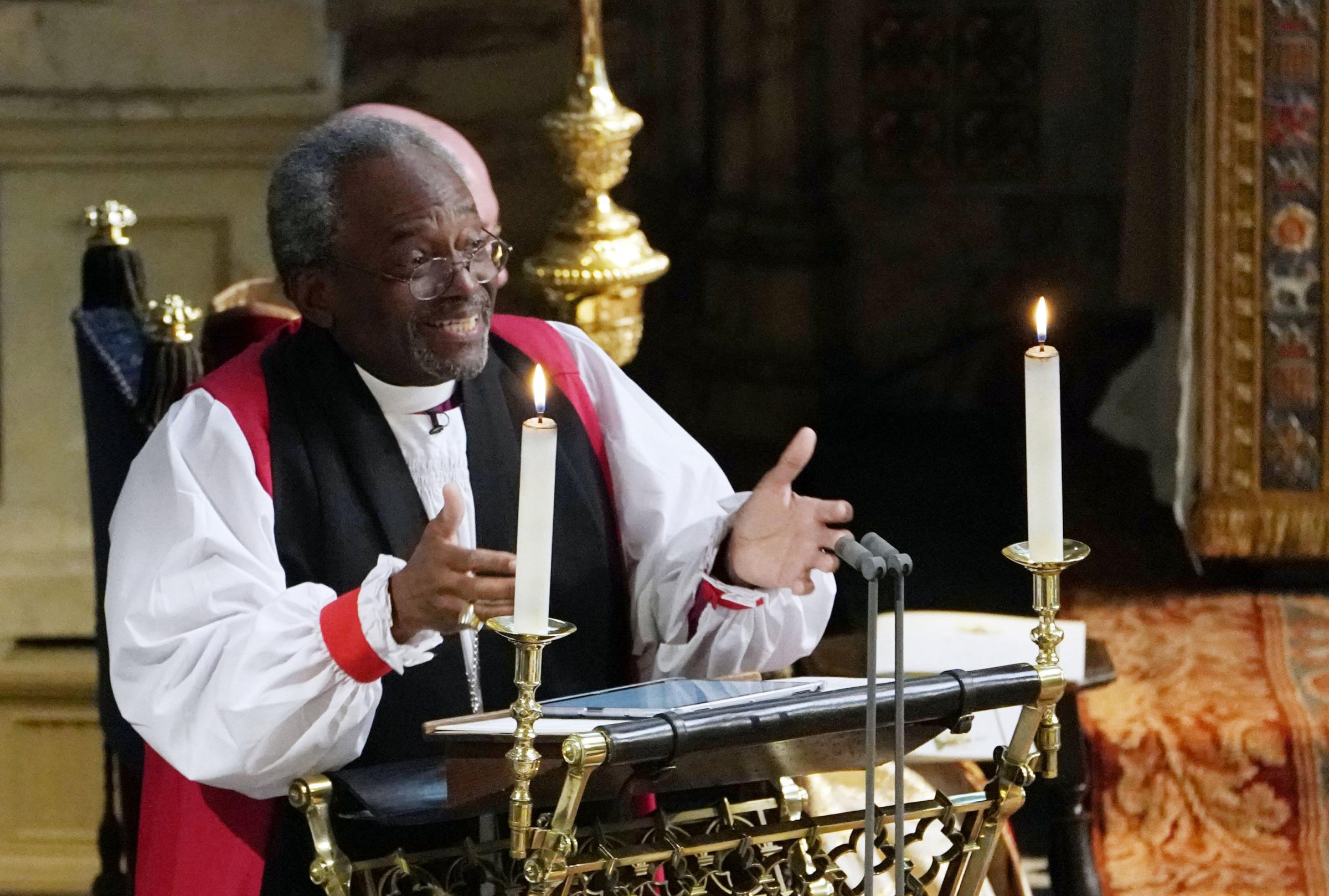 Bishop Michael Curry gave an impassioned sermon during the royal wedding