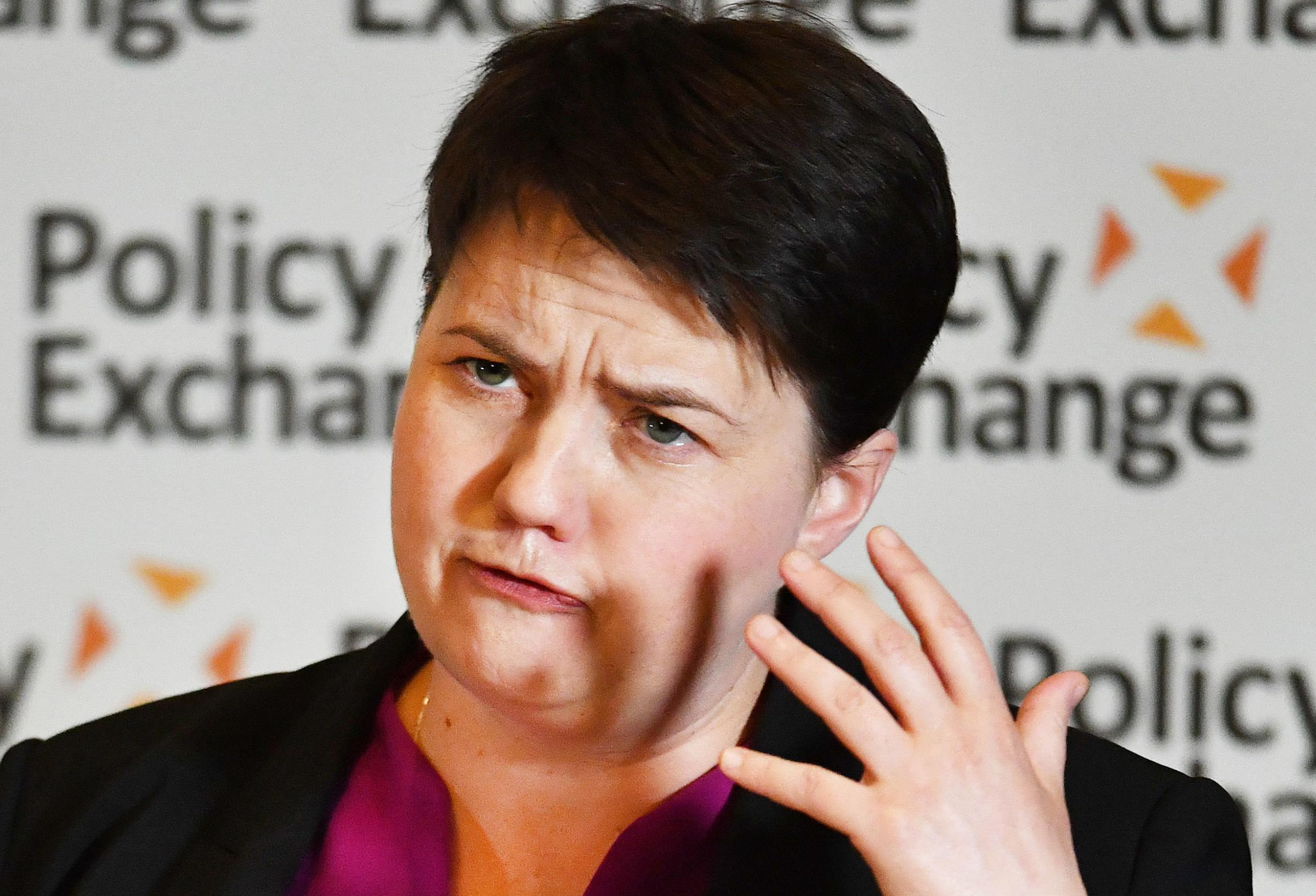 Scottish Conservative leader Ruth Davidson during her address to the policy Exchange conference titled The Union and Unionism – Past, Present and Future