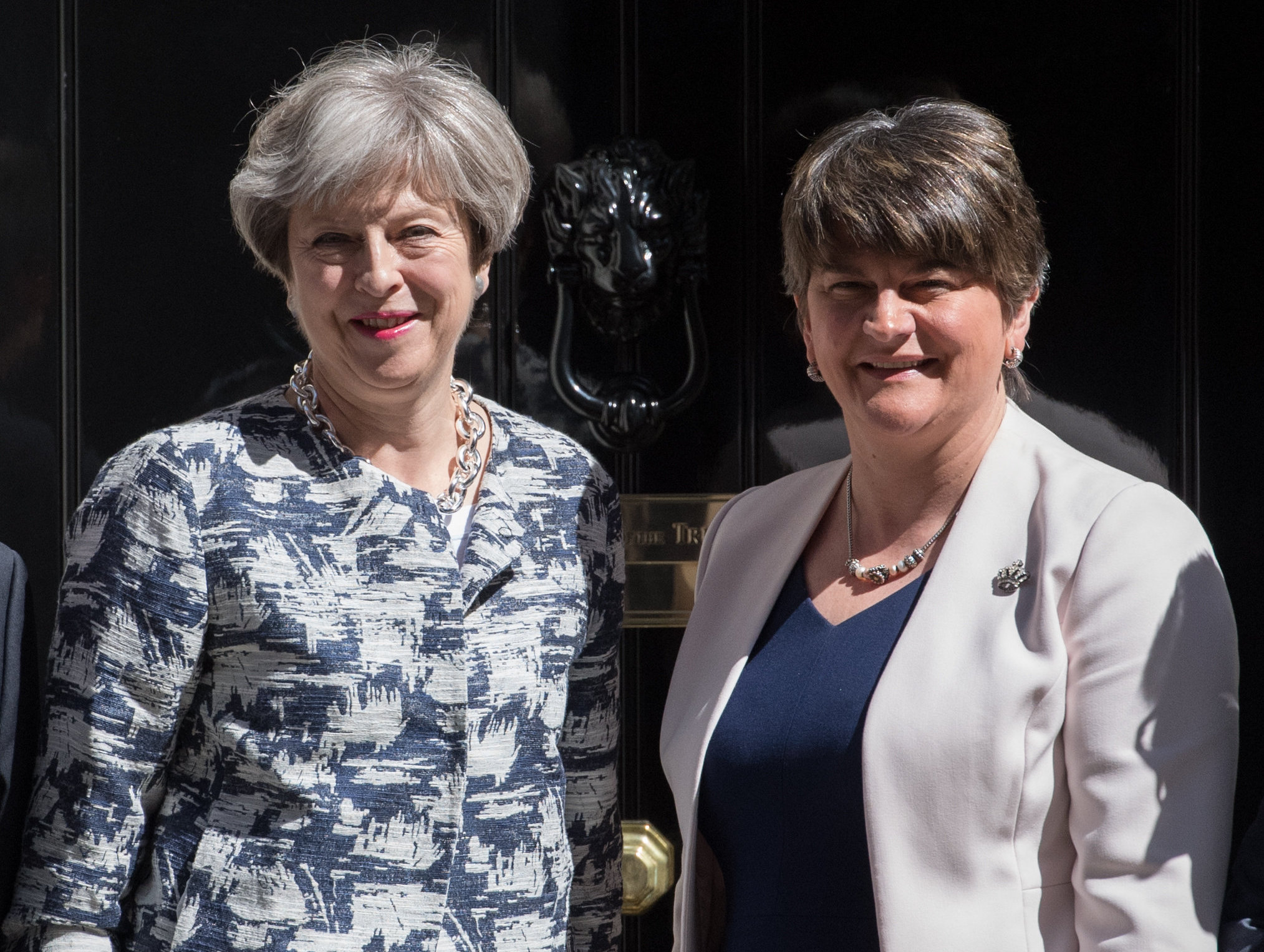 Prime Minister Theresa May with Arlene Foster, leader of the Democratic Unionist Party