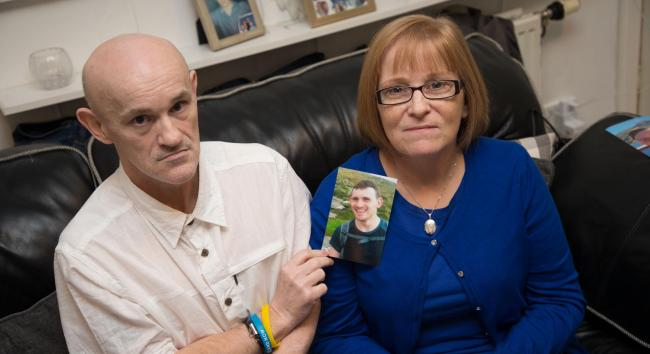 Christopher's parents Duncan and Margaret want warning signs along river banks