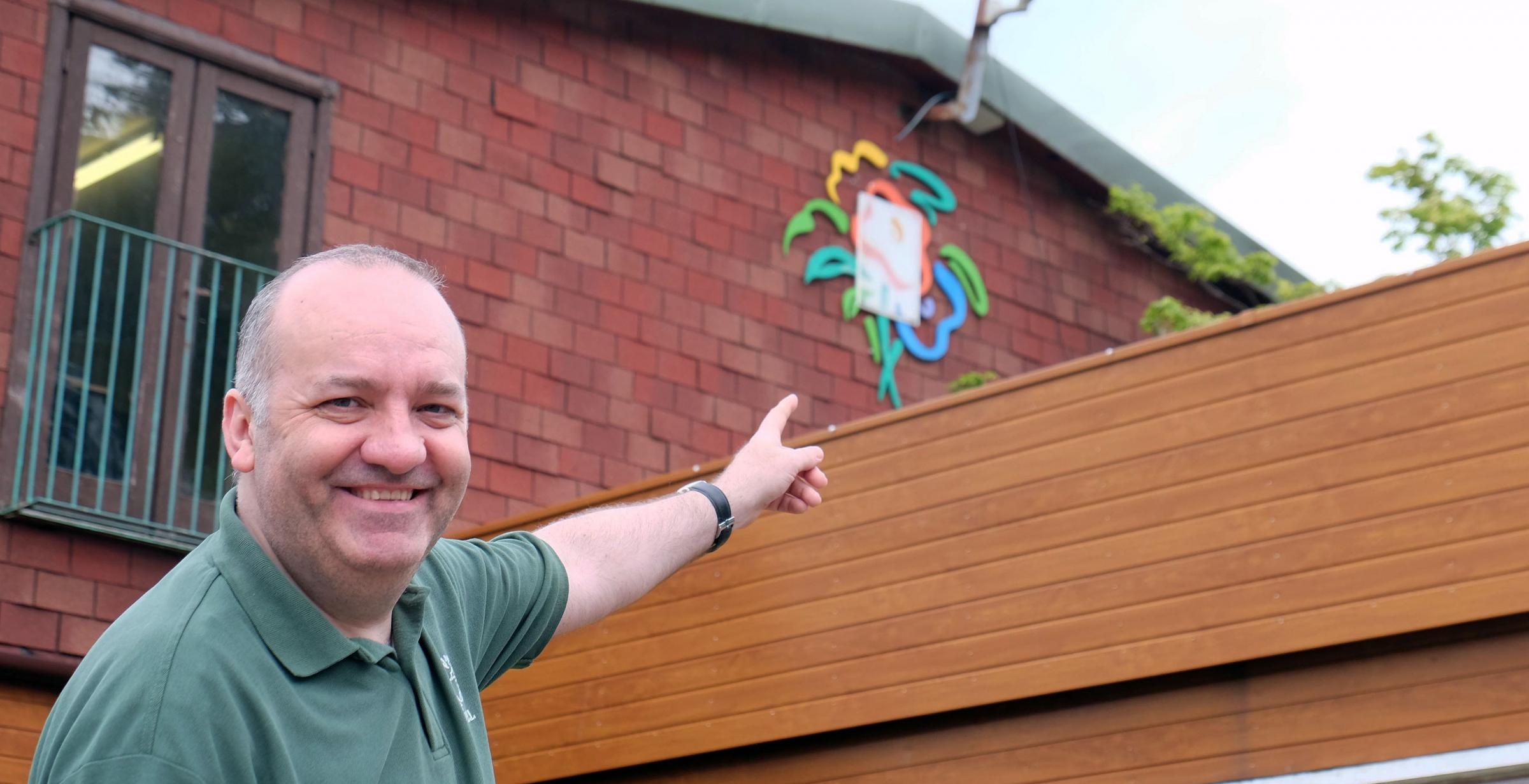 Cardwell garden centre retail general manager, Paul Carmichael, points out relics of the 1988 festival