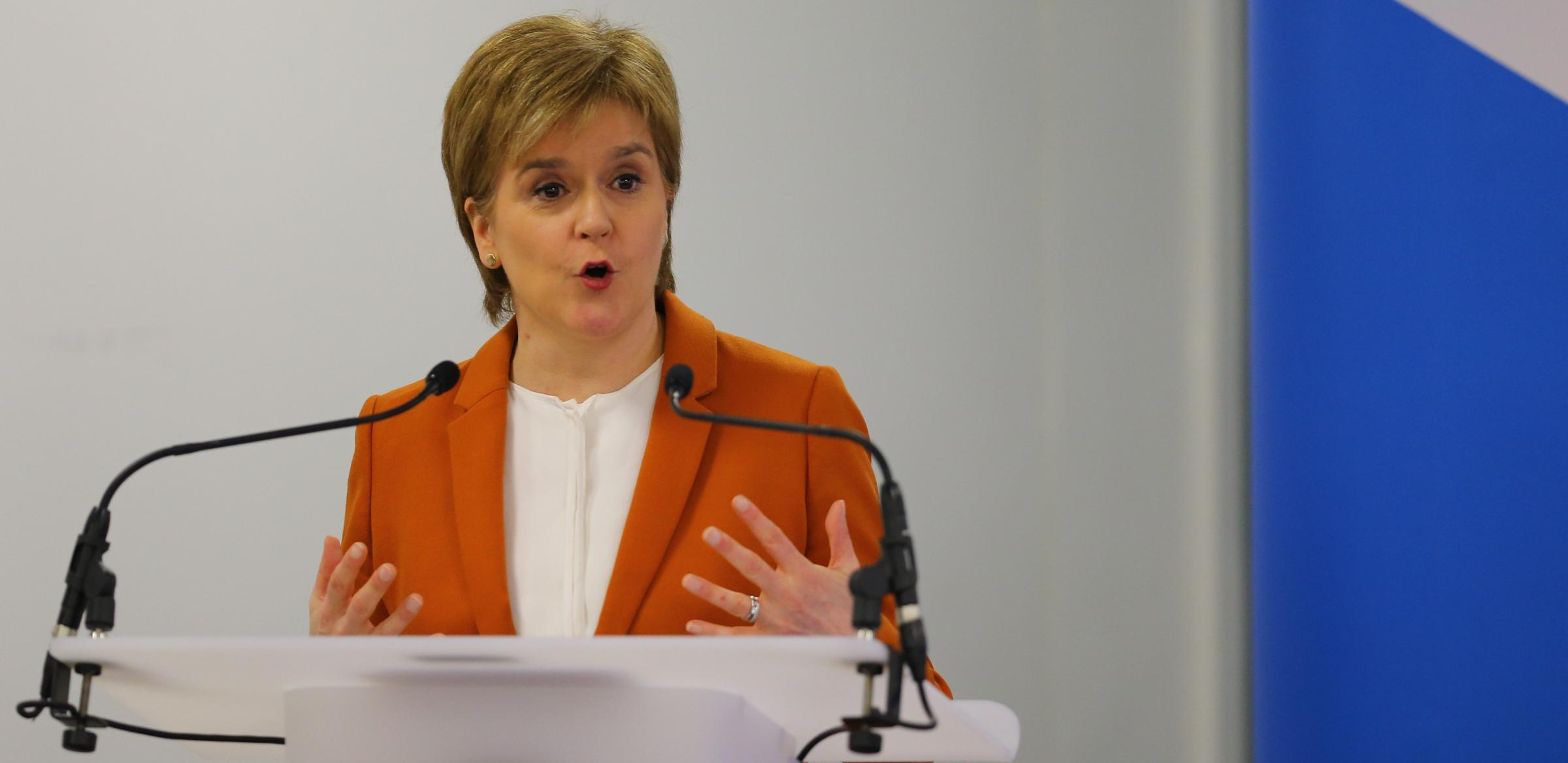 Nicola Sturgeon defended the Wilson report after criticism from left-wing analysts