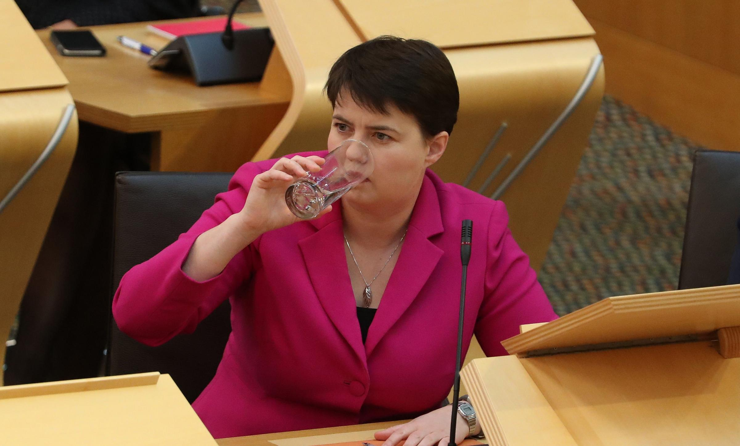 Ruth Davidson used her first question to talk about independence