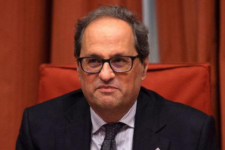 Catalan president Quim Torra spoke ahead of the trial
