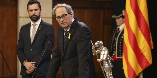 President of the Catalonia regional government Quim Torra. Photograph: AP).