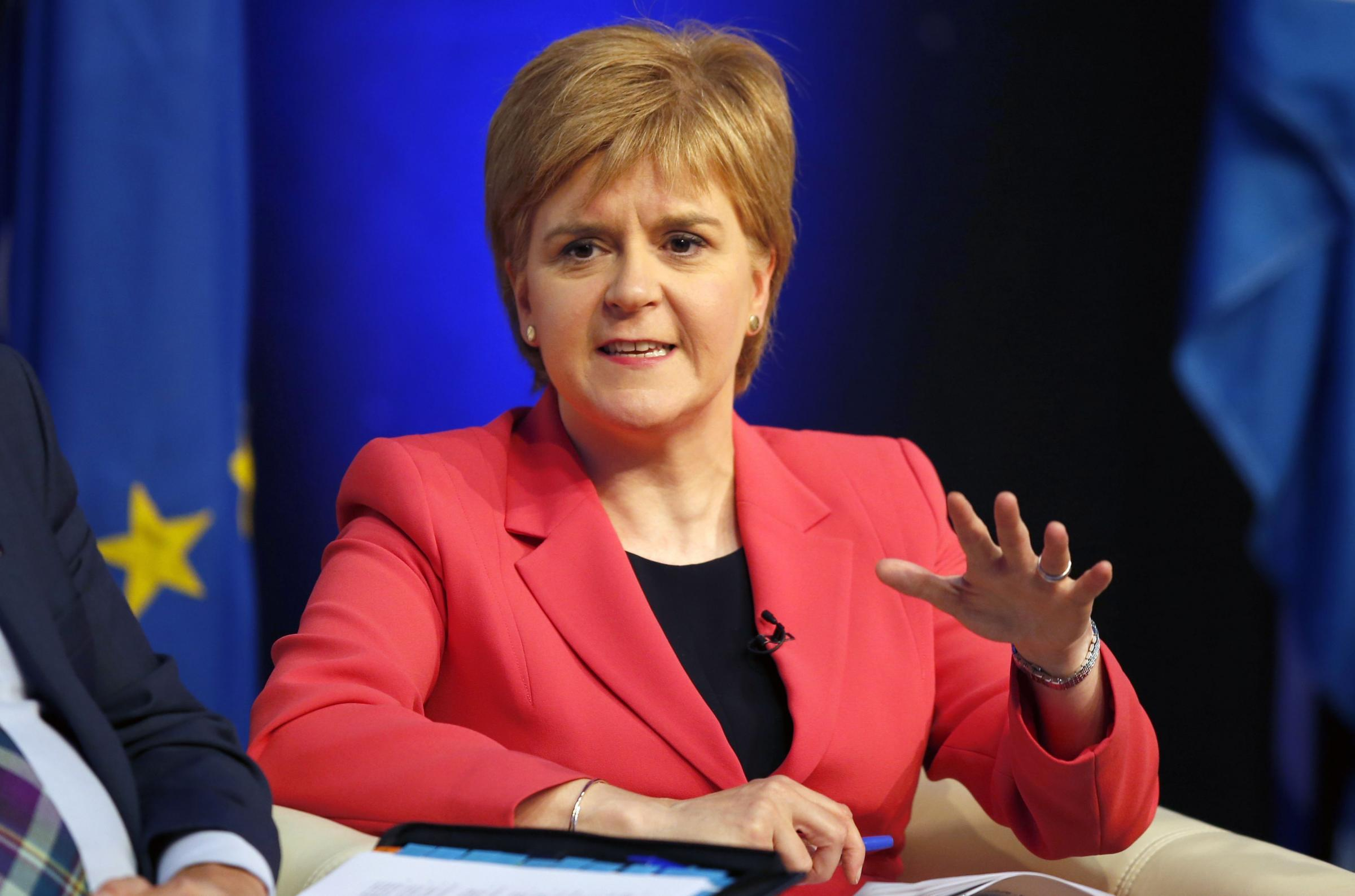 First Minister Nicola Sturgeon issued a strong response to the vote