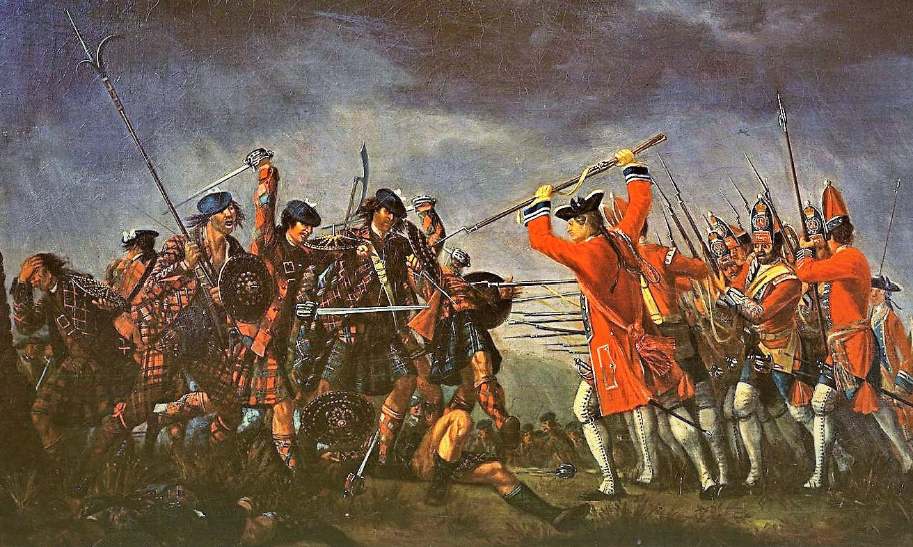 Painting by David Morier. An artist's depiction of the Battle of Culloden..