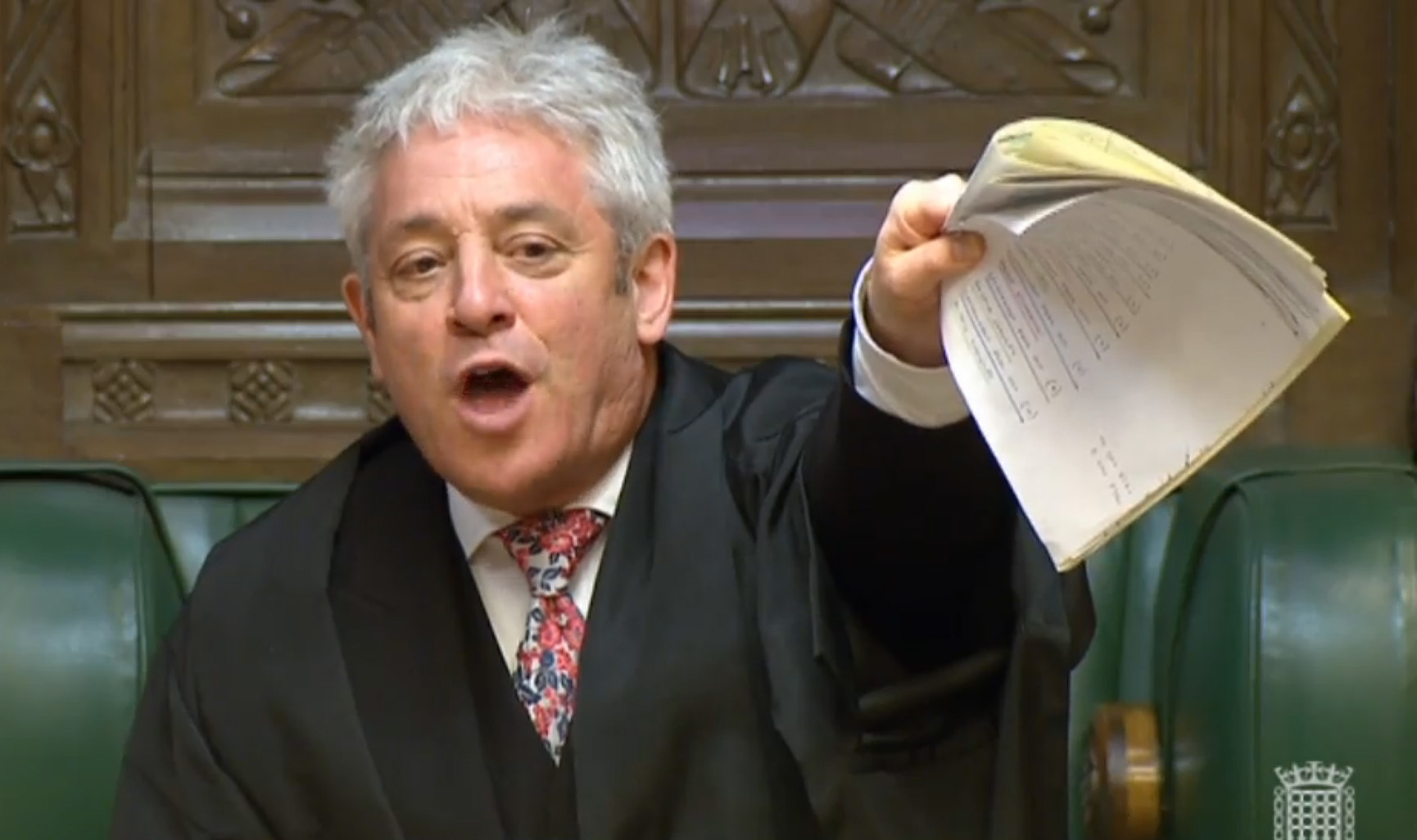 Speaker John Bercow was reacting to SNP protests