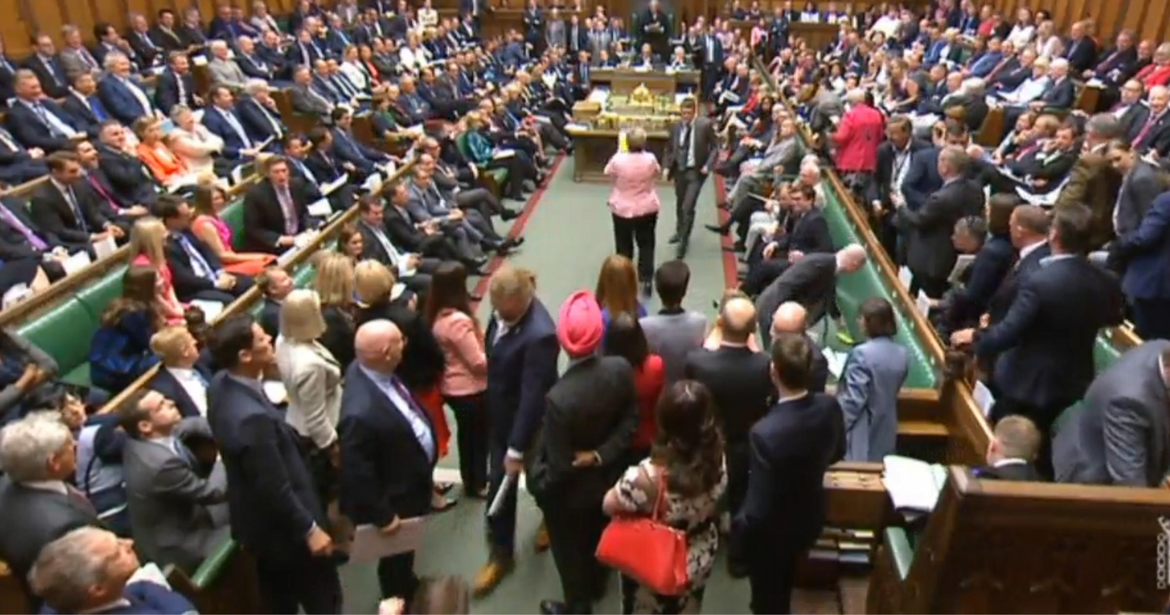 SNP MPs exited the Chamber after Westminster leader Ian Blackford was expelled
