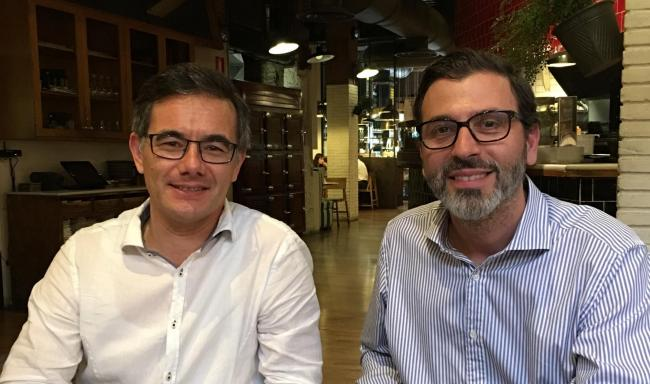 Roger Brumwell, left and Ricard Gonzalez are leading members of the Catalan business organisation FemCAT