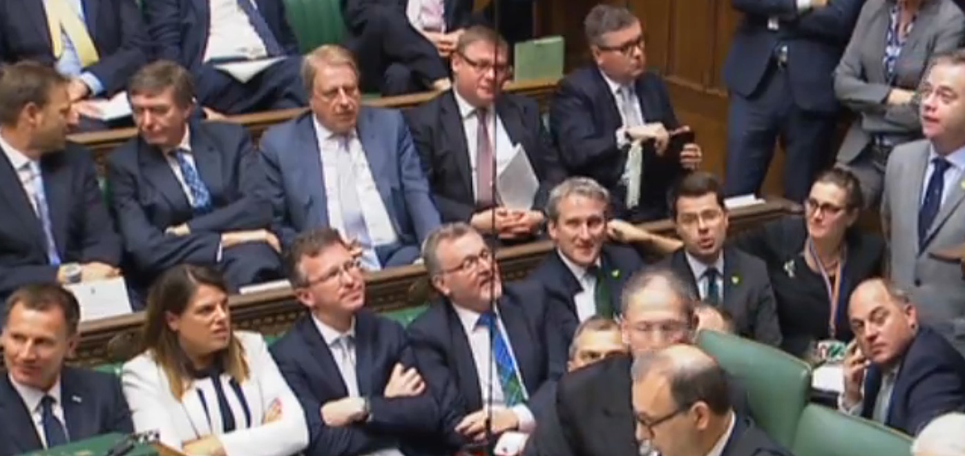 Blackford clashed with May and the Speaker over the 'democratic outrage' of Brexit power grab