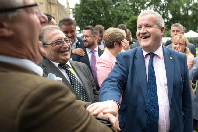 Blackford jokes with SNP MPs after Commons walkout but says they