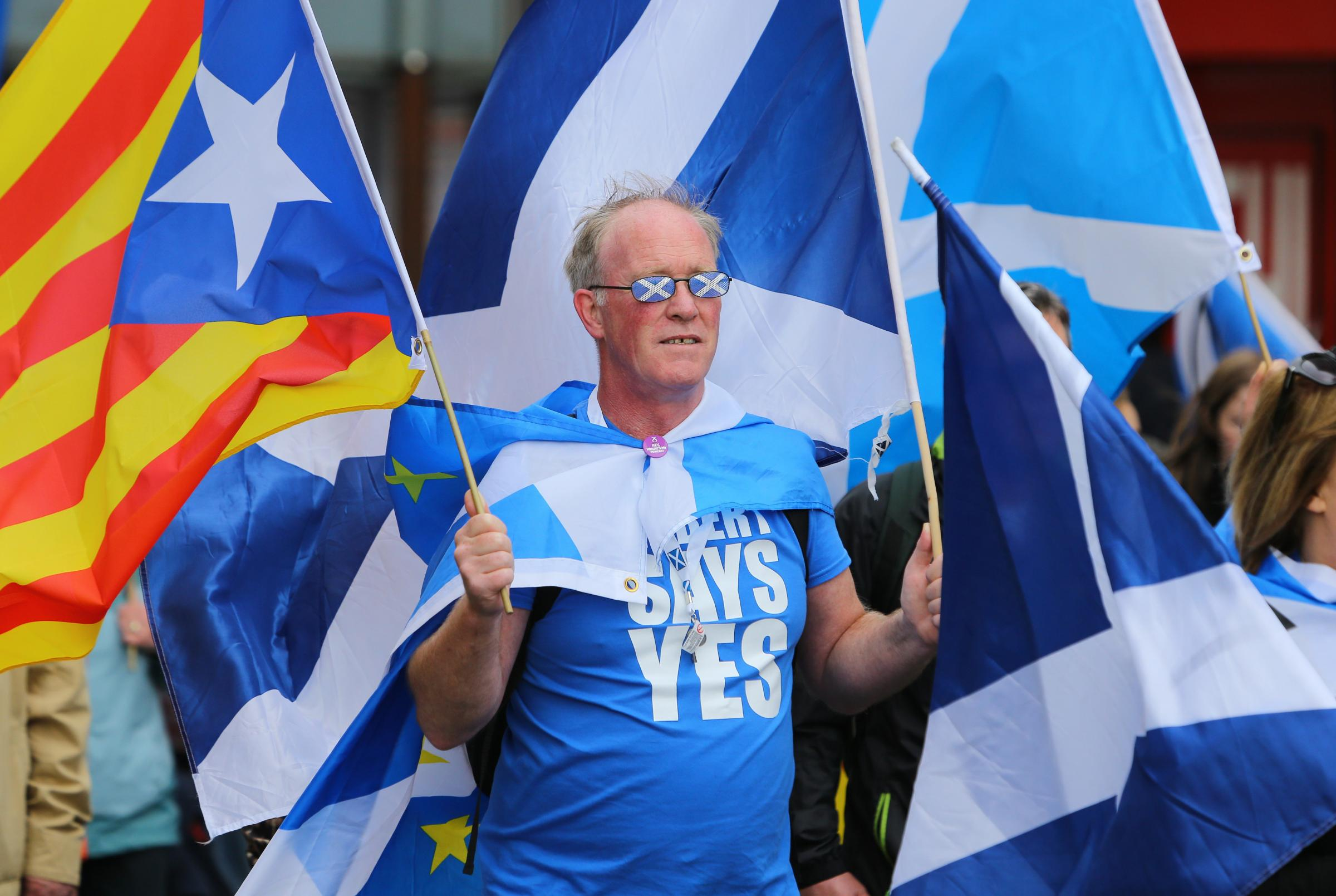 Mair as 100,000 mairchers hae 'voted wi their feet', an mair than kept the dream alive. Photograph: Colin Mearns