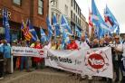 English Scots for Yes have had a very visible presence at recent marches