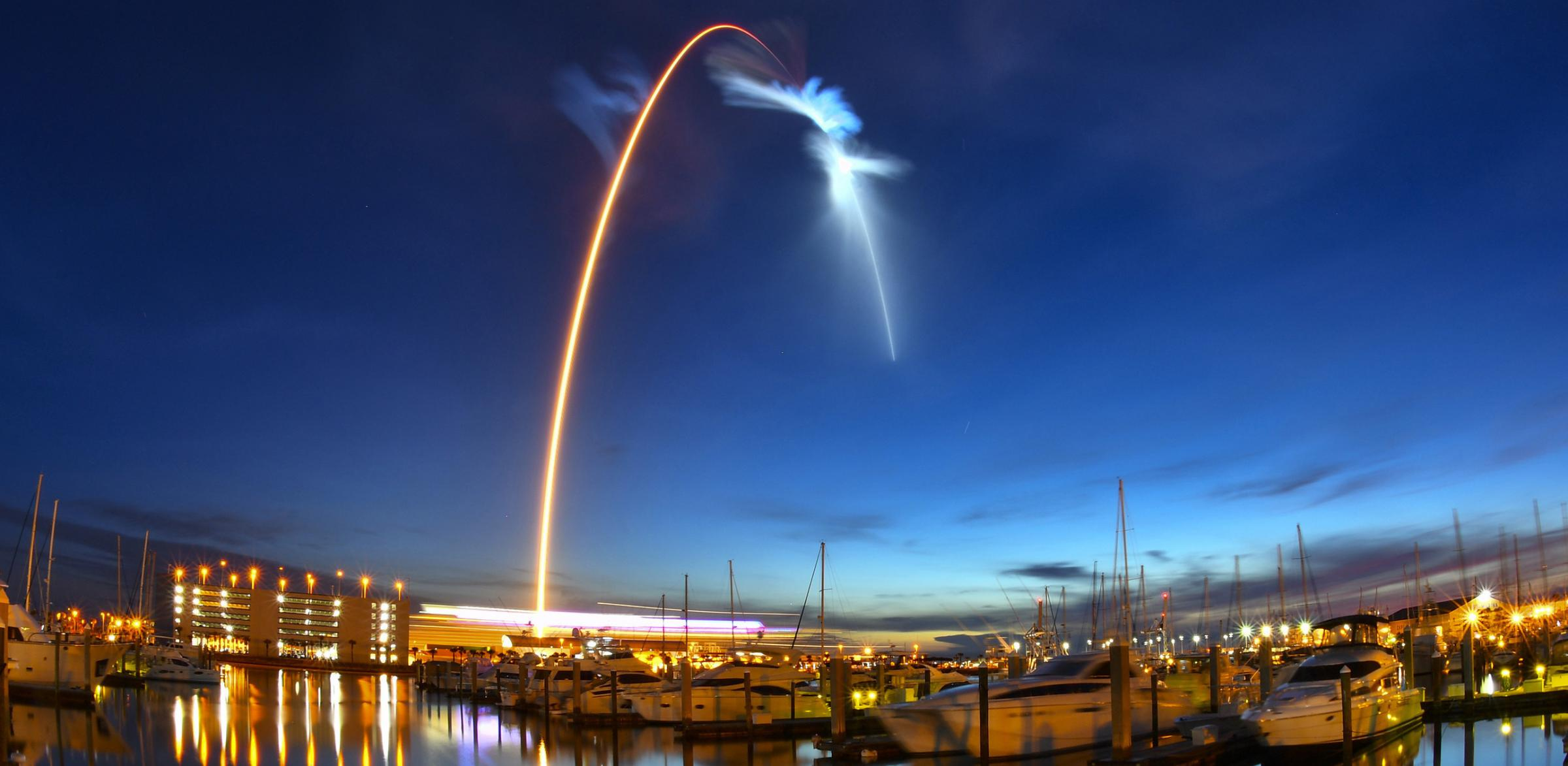 The launch took place at Cape Canaveral in Florida