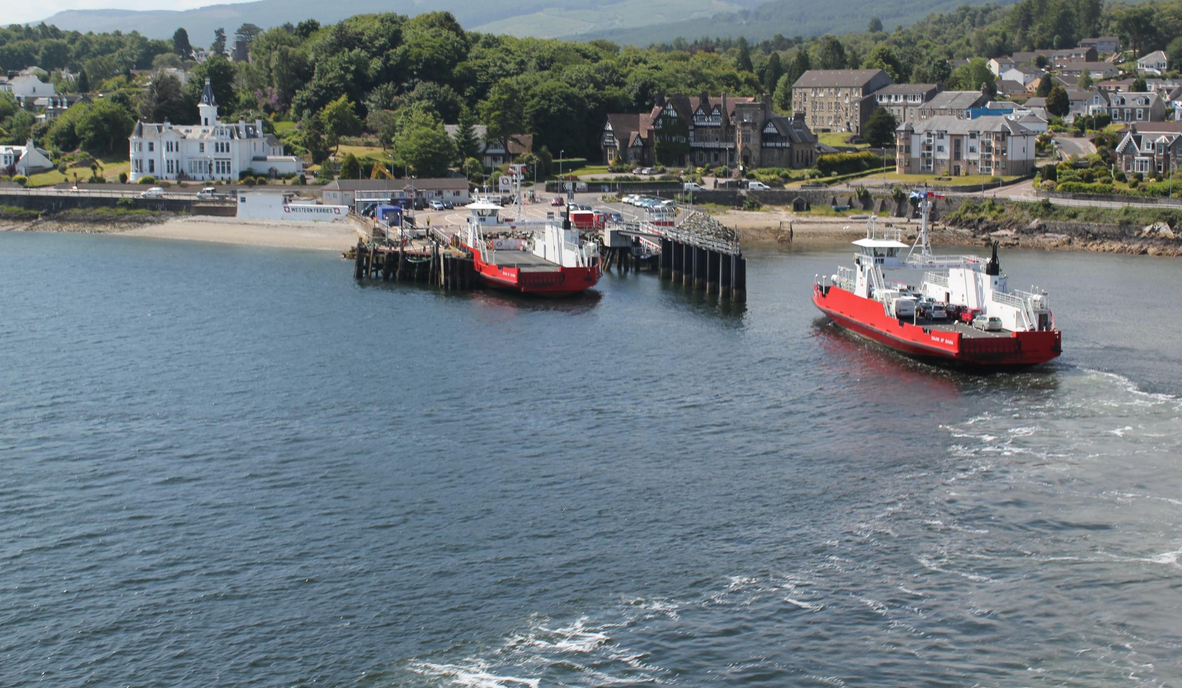 The new bridge will be at Hunter's Quay in Dunoon