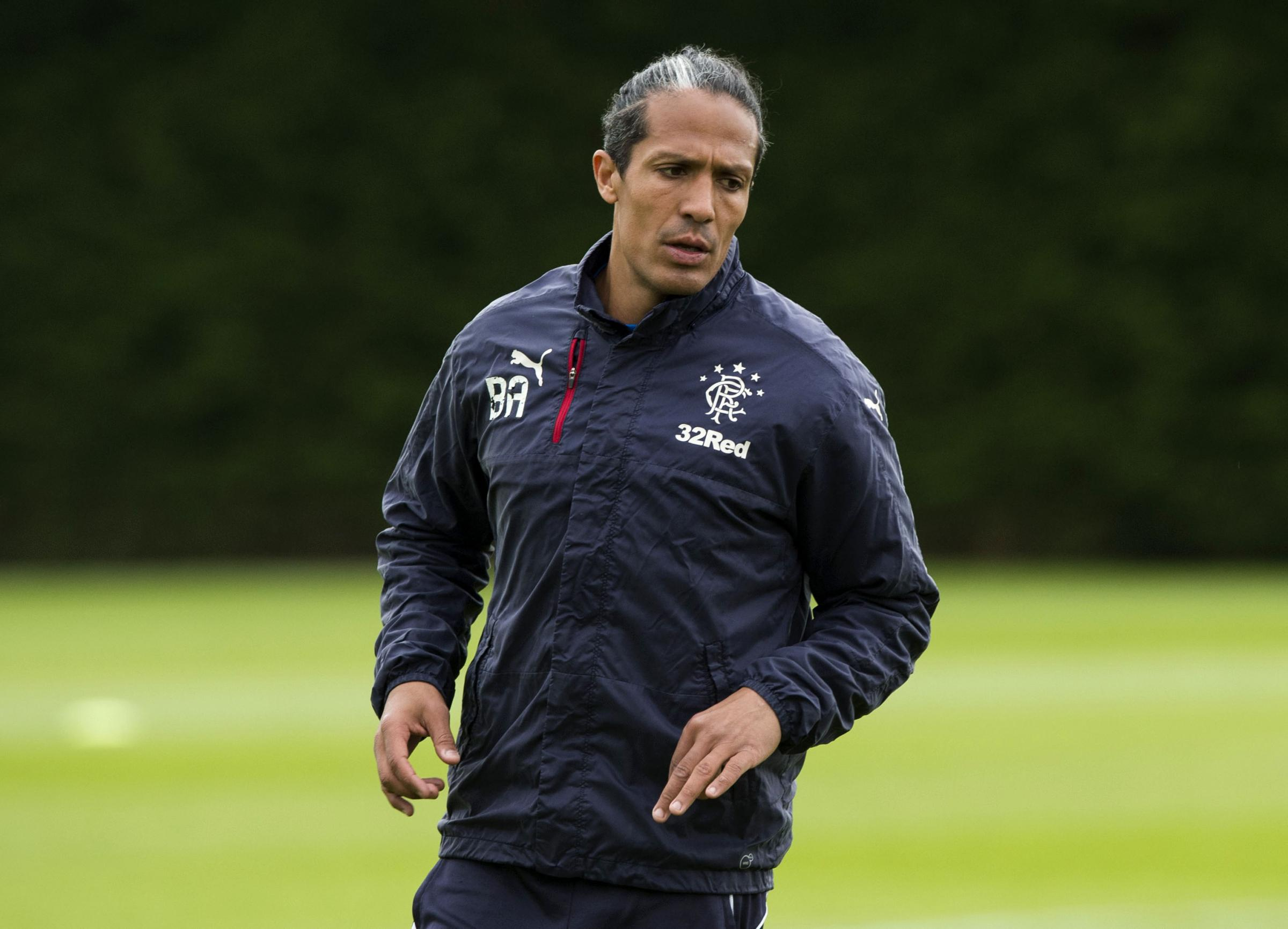 Bruno Alves training in Glasgow during his time with Rangers last season.
