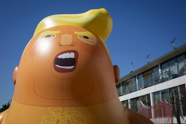 The Baby Trump blimp will be at protests in London