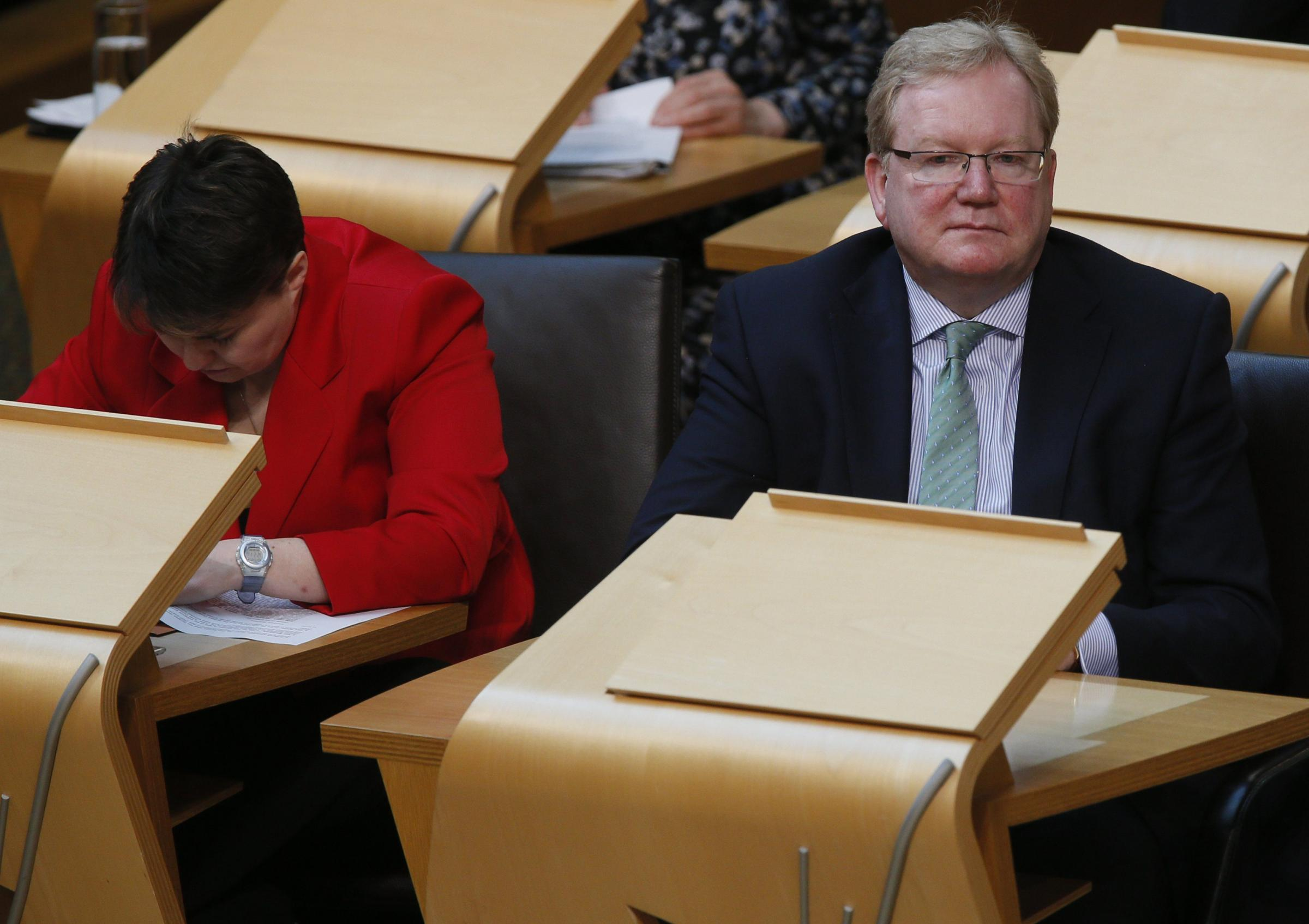 Scottish Tory leader Ruth Davidson and her deputy Jackson Carlaw