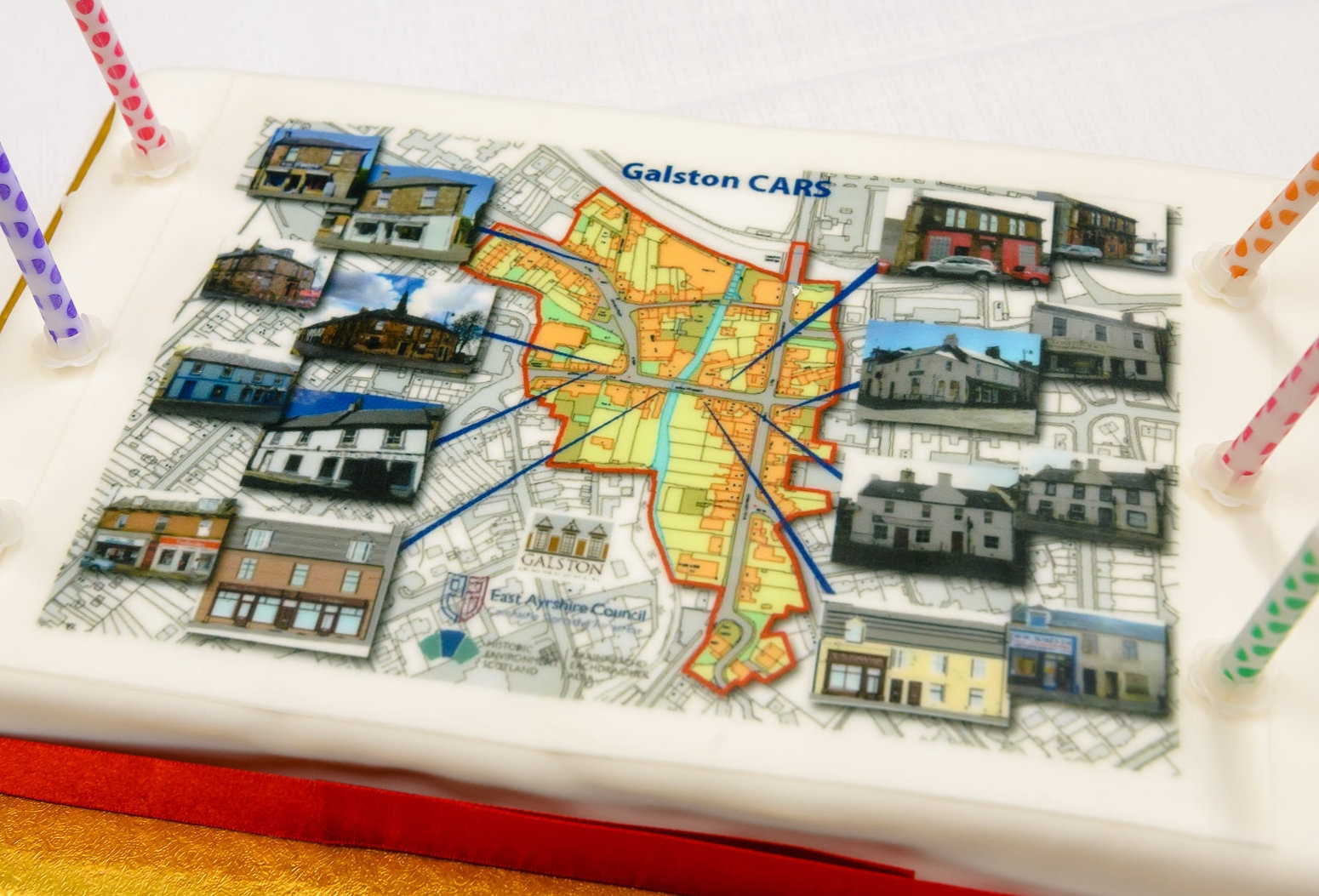 A cake at an event to celebrate the Galston CARS scheme