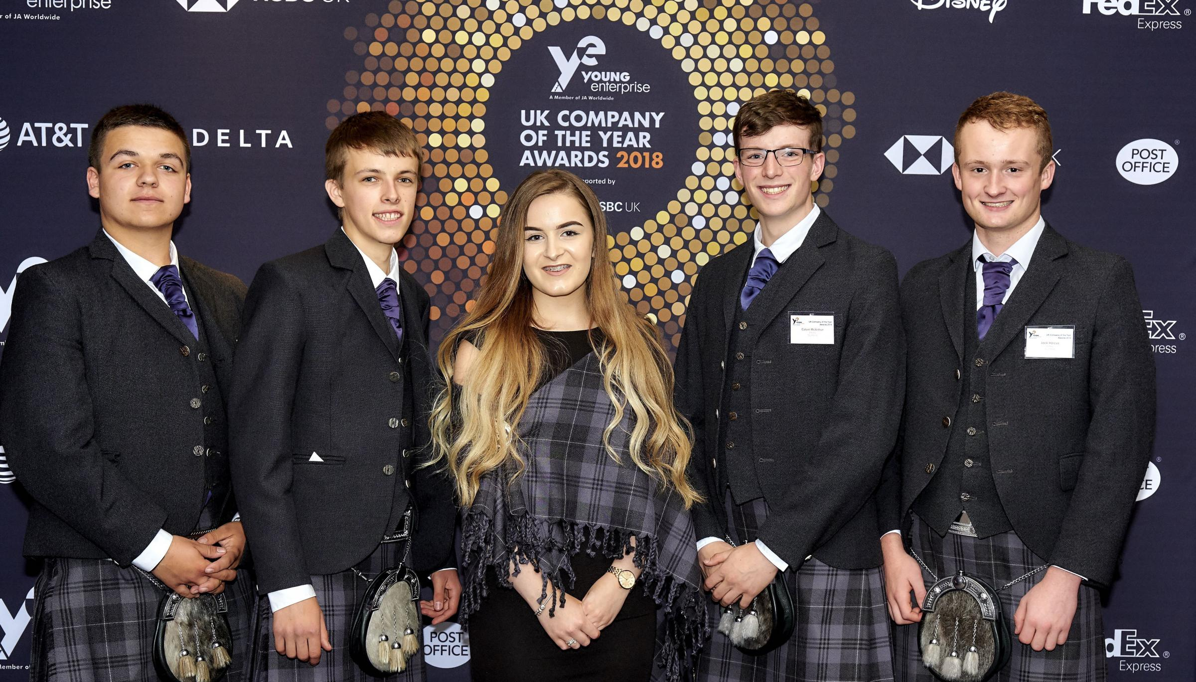 Students from Kirkwall Grammar School in Orkney won the Access Award at the Young Enterprise Company Programme final