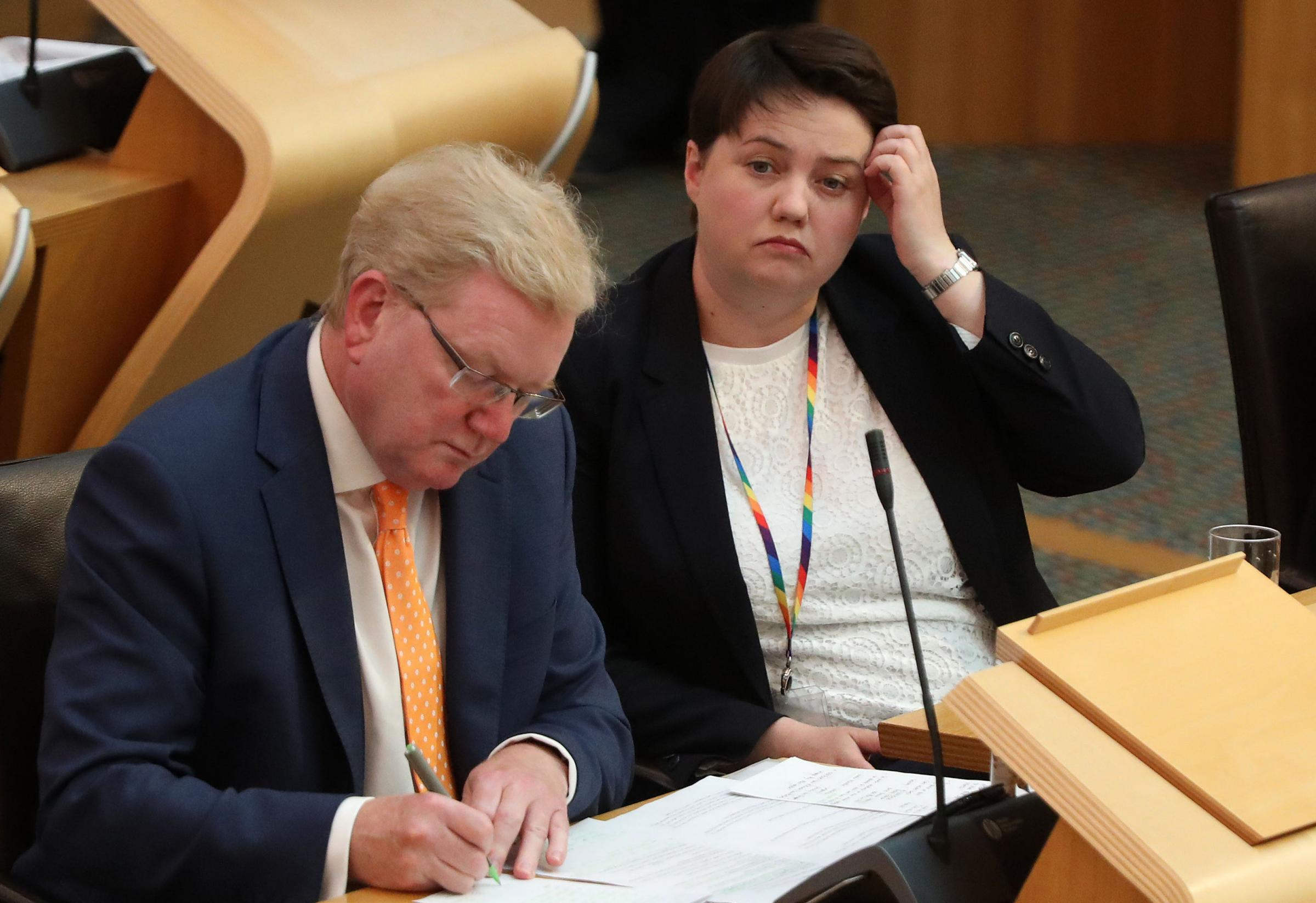 Ruth Davidson and her deputy Jackson Carlaw