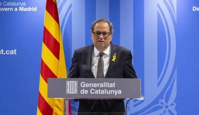 Quim Torra announced the Segria region will be locked down indefinitely