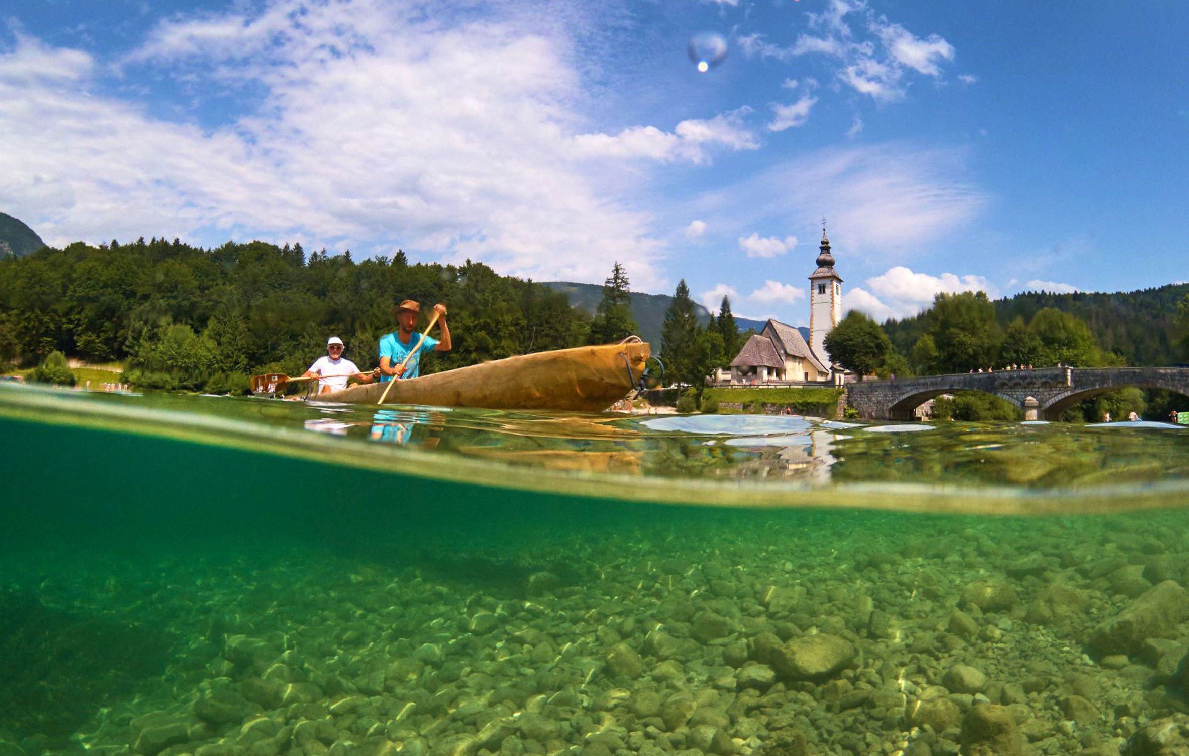 It is hard to imagine how many pictures are taken on the banks of Lake Bohinj each year Photograph: PA/Visit Slovenia